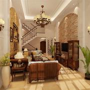 靓丽美式别墅电视背景墙设计