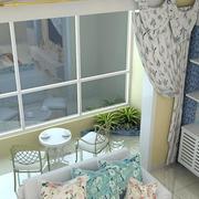 温馨美式客厅隔断装修设计