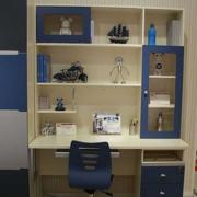 简约儿童房整体书柜装修设计