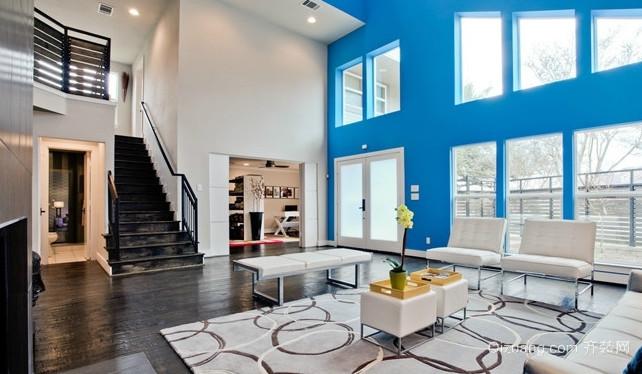 120平米跃层式住宅楼梯装修效果图