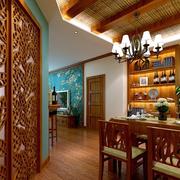朴实东南亚餐厅吊顶设计