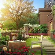 温馨乡村别墅入户花园设计