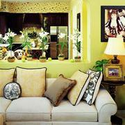 靓丽客厅沙发背景装修设计