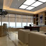 自然办公室走廊吊顶设计