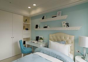 2015小女生卧室唯美清新墙衣效果图