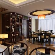 精装中式餐厅酒柜设计