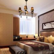 古朴新中式卧室装修
