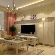 温馨韩式田园客厅装修