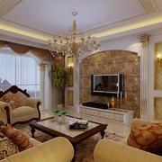 经典欧式别墅客厅电视背景墙设计