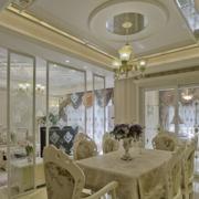 奢华韩式餐厅吊顶设计