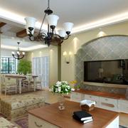 恬静韩式田园风格客厅装修