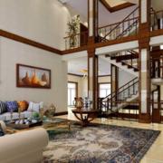 大气跃层式住宅楼梯装修设计