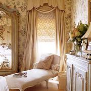 清新欧式别墅窗帘装修设计