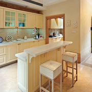 素雅美式家庭吧台装修设计