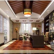 时尚东南亚别墅窗帘装修设计