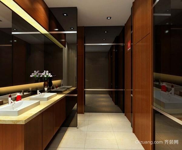 2015全新欧式高档酒店公共男卫生间装修效果图
