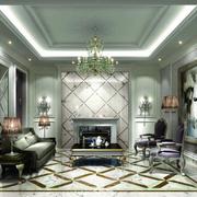 新颖欧式客厅地板砖装修