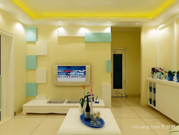 家庭客厅东鹏瓷砖电视墙装修效果图