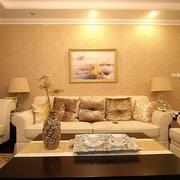 潮流客厅沙发背景装修设计