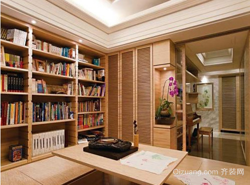 淡雅的书柜装修效果图