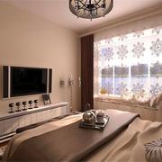 精致二居卧室飘窗设计