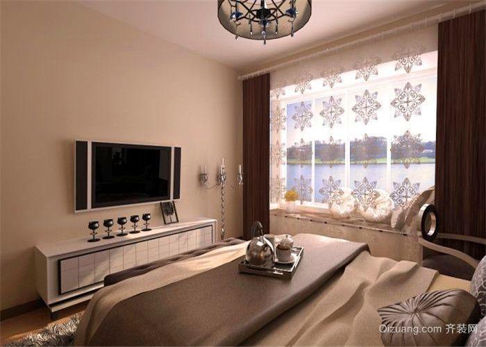 二居室简欧实用卧室飘窗装修效果图