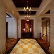经典三居欧式走廊吊顶设计