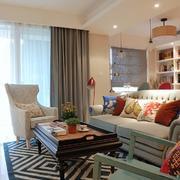 简约客厅沙发背景装修设计