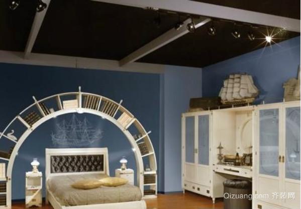 全新清新简约地中海风格卧室装修效果图