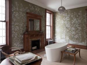美式复古风格墙纸装修效果图