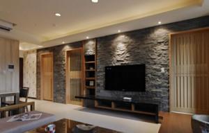 富有特色的日式客厅电视背景墙装修效果图鉴赏