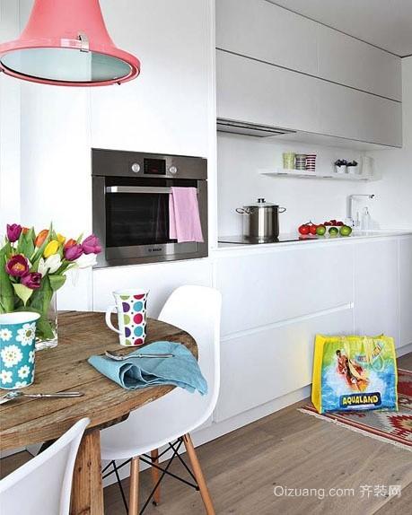 精简控必爱的十款简约型开放式厨房装修效果图