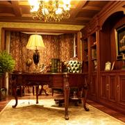 暖色调书柜设计