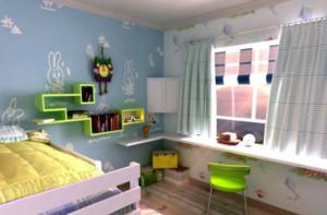 儿童房背景墙造型图
