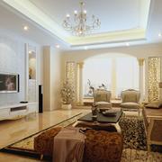 现代客厅窗帘色调搭配