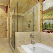 浴室背景墙整体图