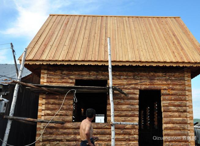 朴素草原上的小木屋系列装修效果图