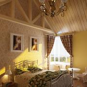 唯美卧室吊顶造型图
