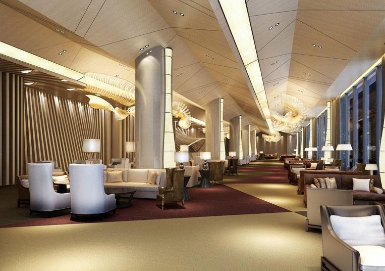 2015都市化大户型酒店吊顶装修效果图