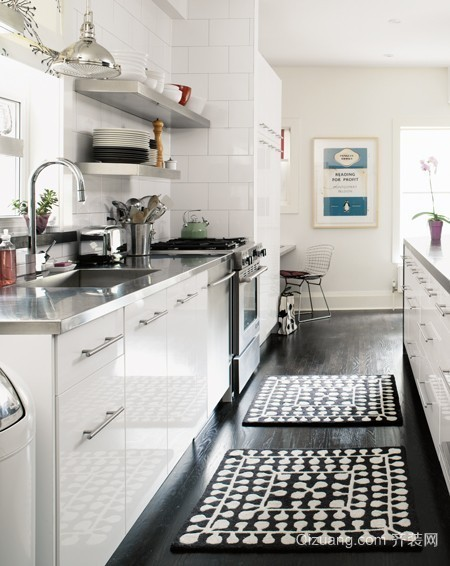 别样迷人风采 简约清爽系列开放式厨房装修效果图