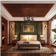 东南亚复古卧室窗帘装修