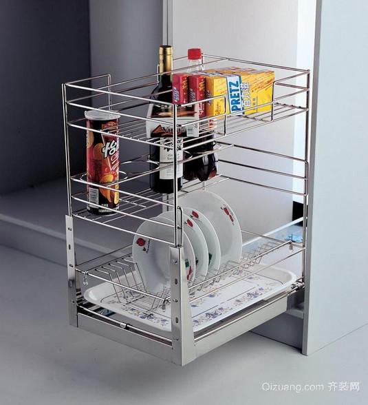 2015美观大方的精致厨房橱柜拉篮装修效果图