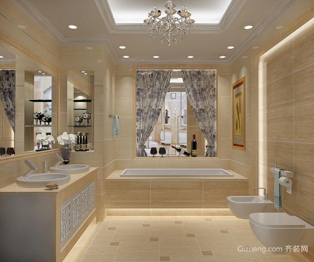 2015大户型豪华精致的马可波罗瓷砖卫生间装修效果图