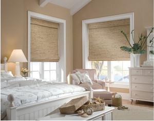 美式乡村卧室窗帘装修效果图