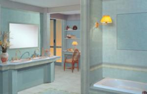 现代卫生间整体图