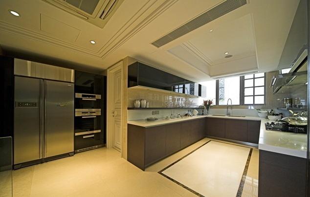 2015大户型令人愉快的欧式开放式厨房装修效果图