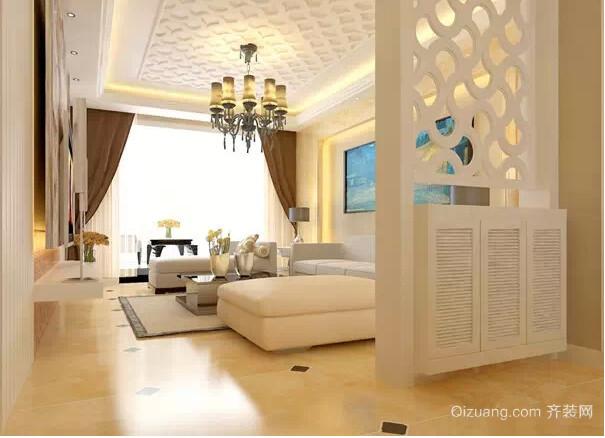 高贵典雅的90平米客厅玄关装修效果图