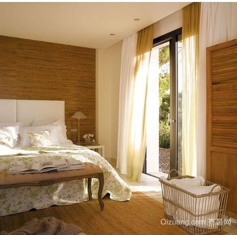欧式别墅卧室窗帘装修效果图