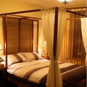 时尚东南亚卧室窗帘装修