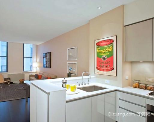 70平米经济适用小户型开放式小厨房装修效果图